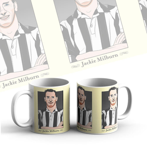 Grady Draws Jackie Milburn Newcastle Mug