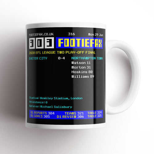 2020 Northampton Playoff Final Footie Fax Mug