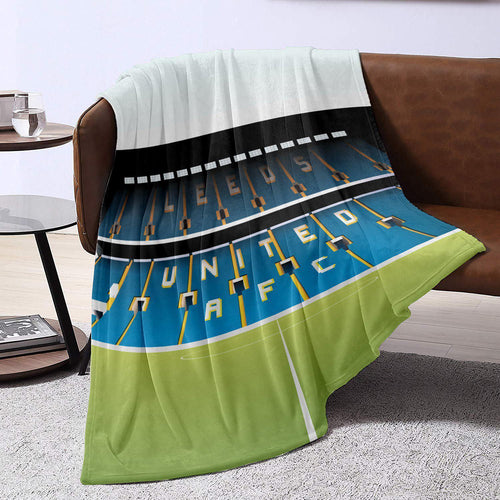 Elland Road Illustrated Blanket Throw-Blanket-The Terrace Store