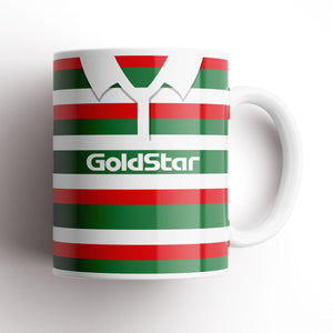 Leicester Tigers 1996 Retro Kit Mug-Rugby Mugs-The Terrace Store