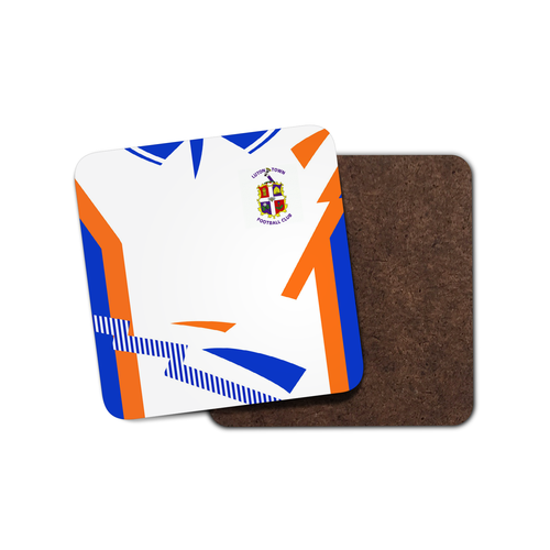 Luton Town 1992 Home Coaster-Coaster-The Terrace Store