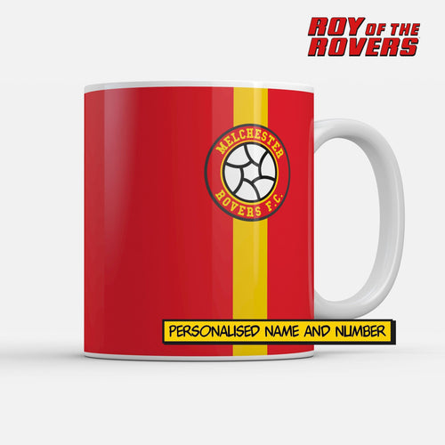Melchester Rovers Personalised Kit Mug-Mugs-The Terrace Store