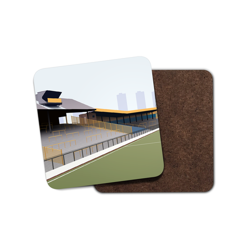 The Den Illustrated Coaster
