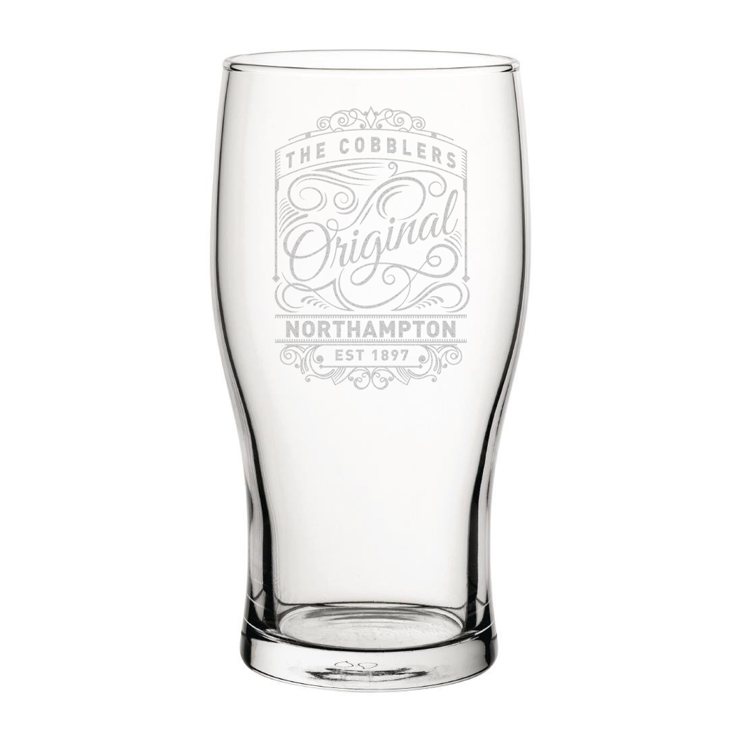Northampton Town Originals Engraved Pint Glass-Engraved-The Terrace Store