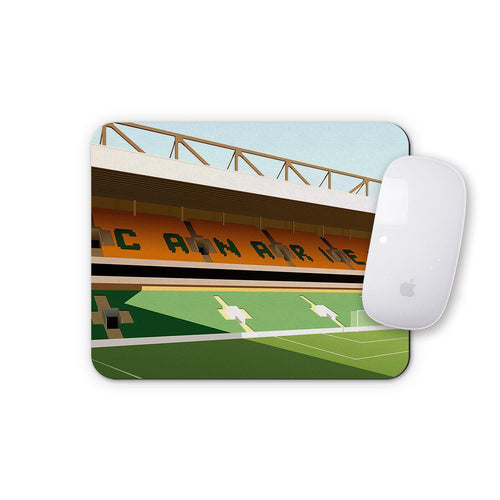 Carrow Road Illustrated Mouse Mat-Mouse mat-The Terrace Store