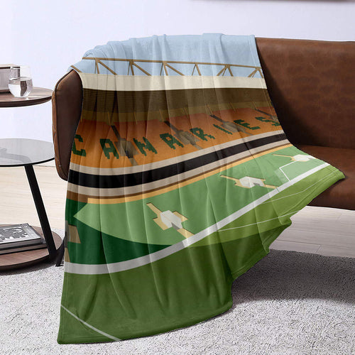Carrow Road Illustrated Blanket Throw