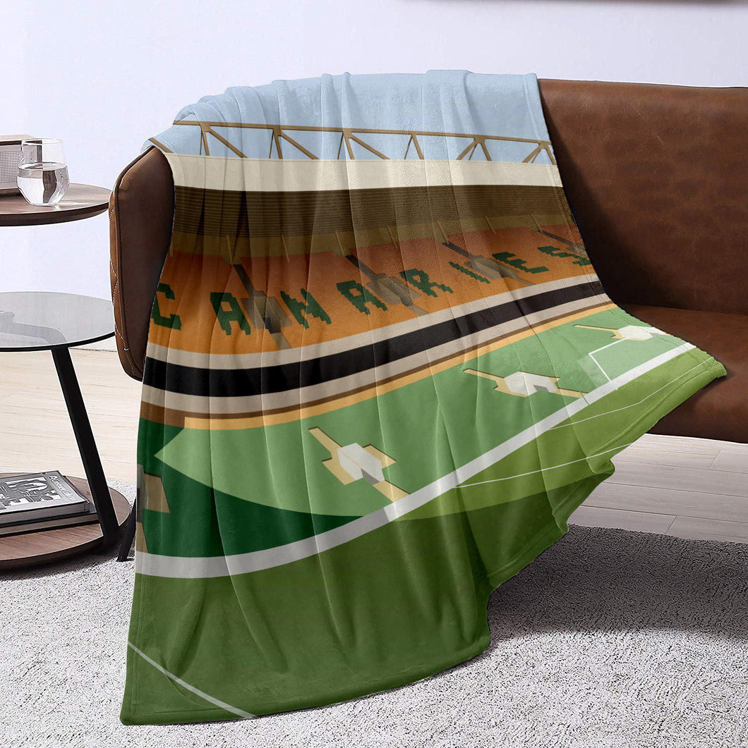 Carrow Road Illustrated Blanket Throw-Blanket-The Terrace Store