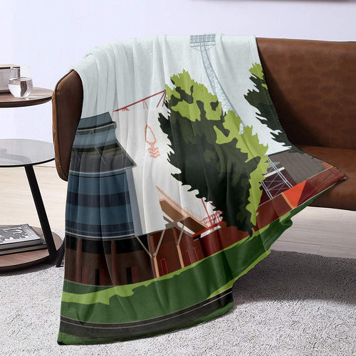 City Ground Illustrated Blanket Throw
