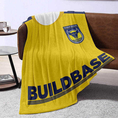 Oxford United 2010 Home Blanket Throw-Blanket-The Terrace Store
