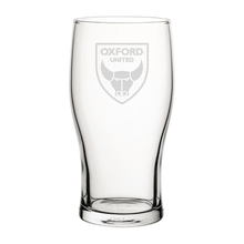 Load image into Gallery viewer, Oxford United Crest Engraved Pint Glass-Engraved-The Terrace Store
