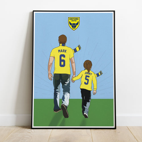 Oxford United Hand In Hand Dad Print