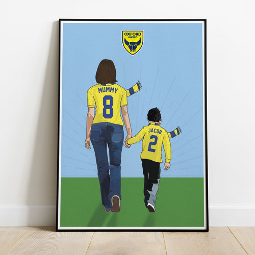 Oxford United Hand In Hand Mum Print