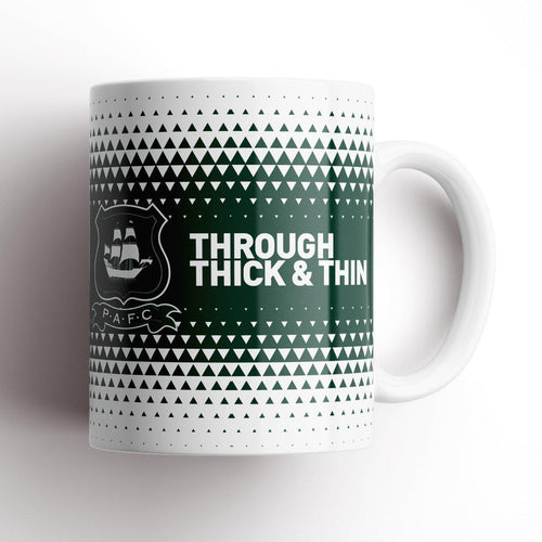 Plymouth Argyle Thick and Thin Mug-Mugs-The Terrace Store