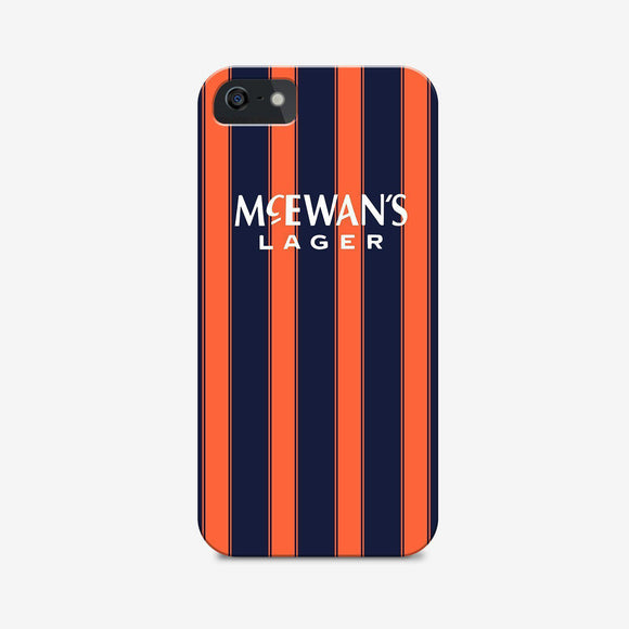 rangers 93 away retro kit phone case