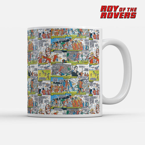 Roy of the Rovers Cartoon Strip Mug-Mugs-The Terrace Store