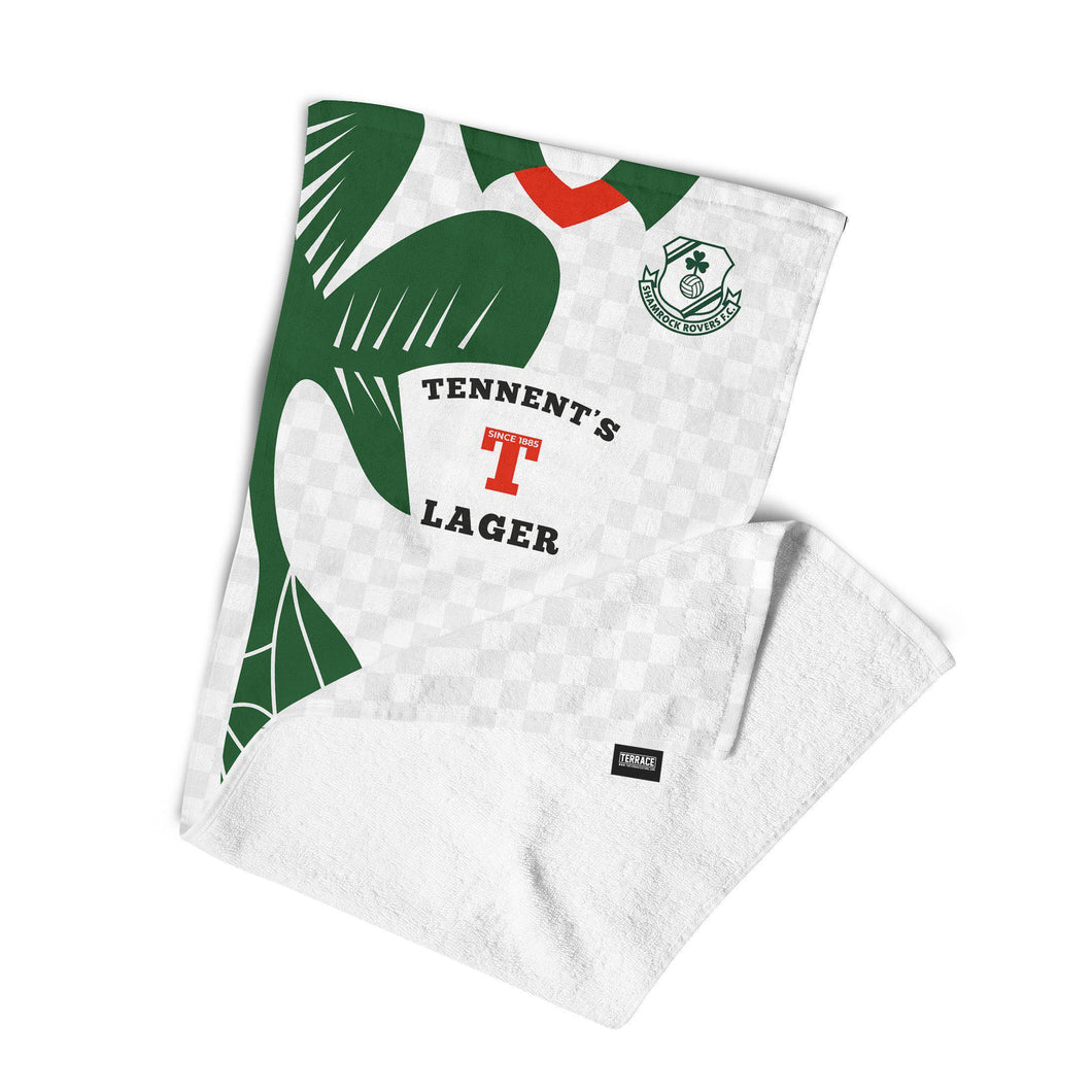 Official Shamrock Rovers '96 Away Towel-Towels-The Terrace Store