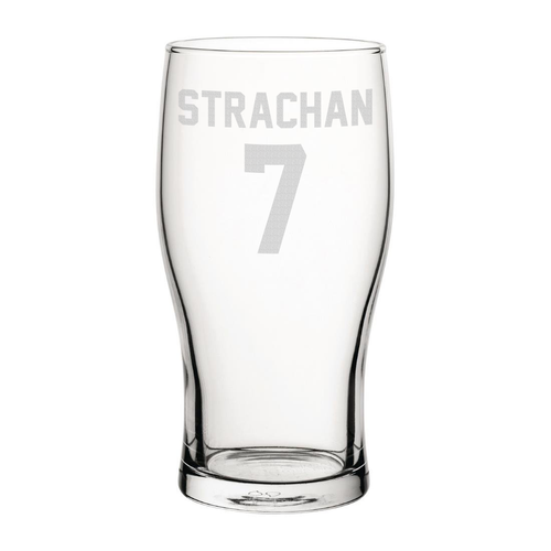 Leeds Strachan 7 Engraved Pint Glass