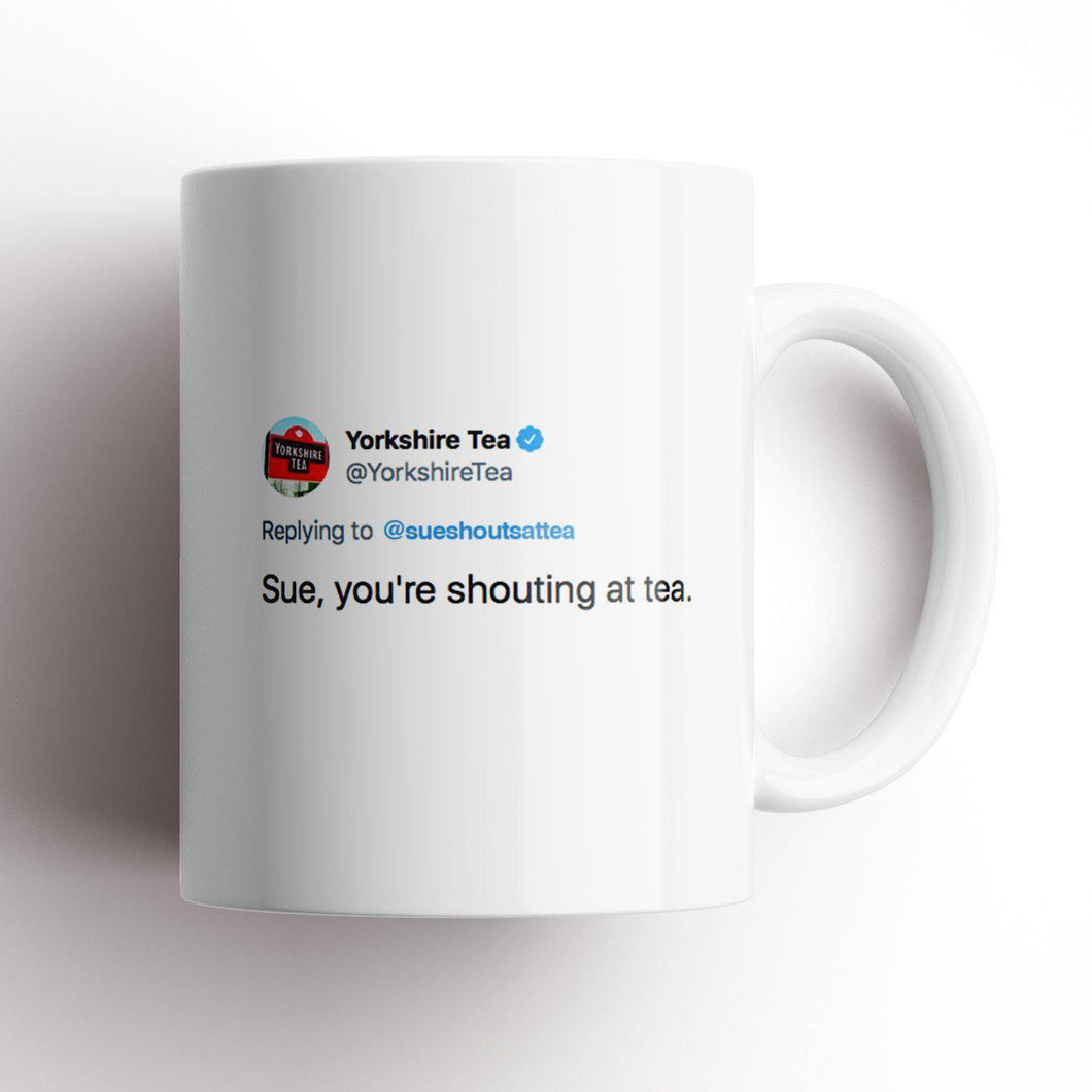 Shouting at Tea Mug-Humour mug-The Terrace Store
