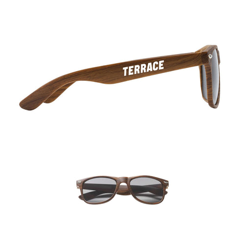Terrace Wood Look Sunglasses