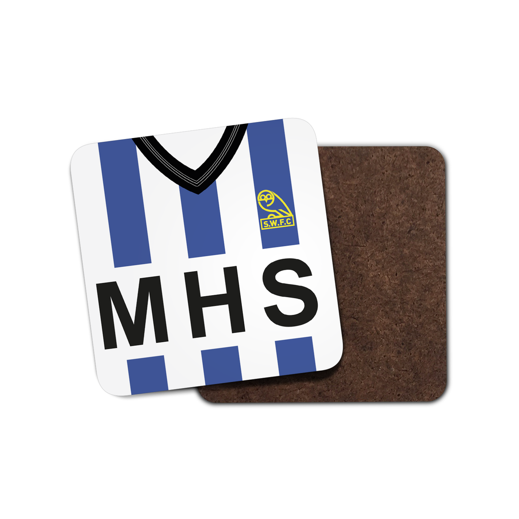 Sheffield Wednesday 1985 Home Coaster-Coaster-The Terrace Store