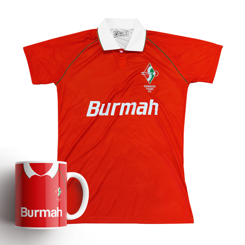 Swindon Town 1993 Home Retro Shirt & Mug Bundle - Preorder