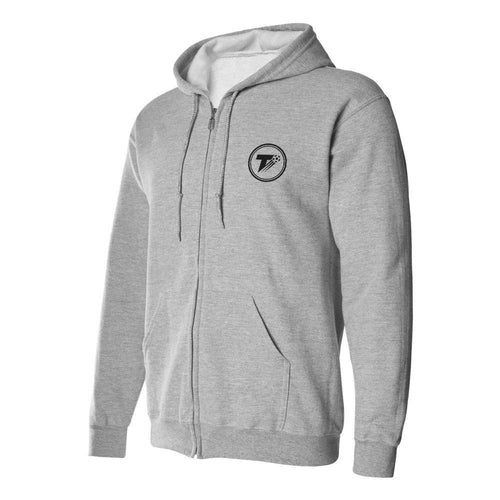 The Terrace Grey Zip Up Hoodie