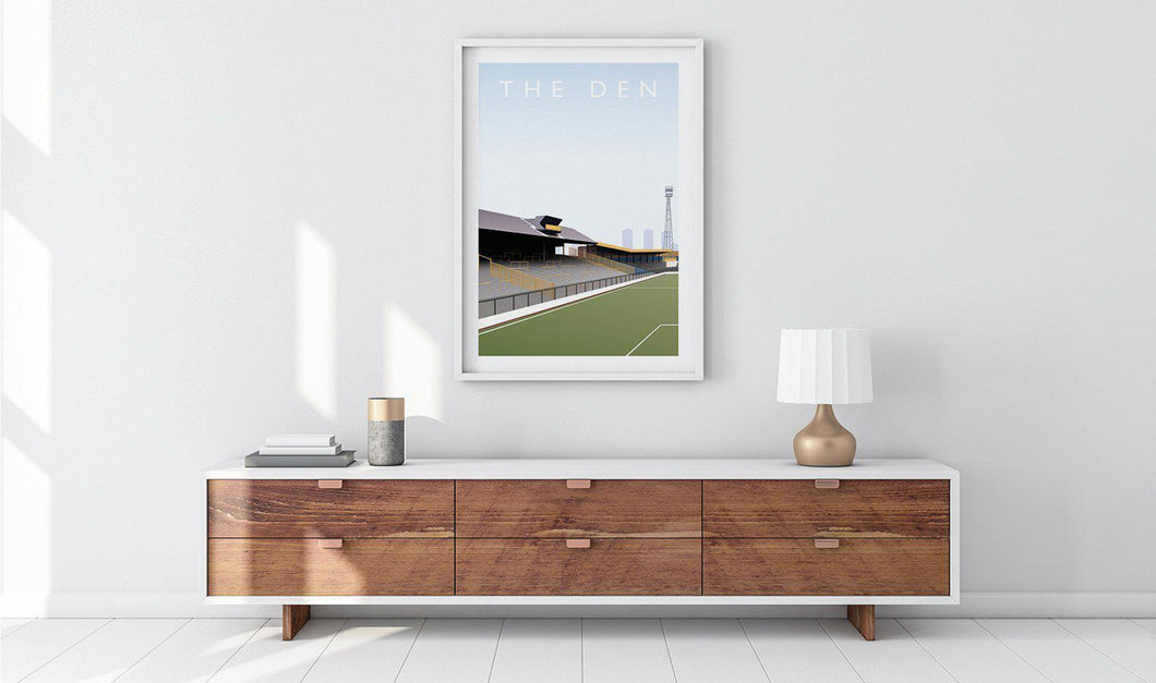 The Den Illustrated Poster-Posters-The Terrace Store