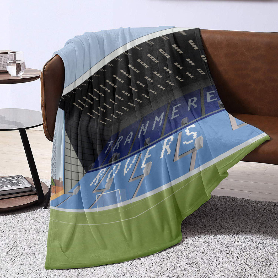 Tranmere Rovers Prenton Park Illustrated Blanket Throw-Blanket-The Terrace Store