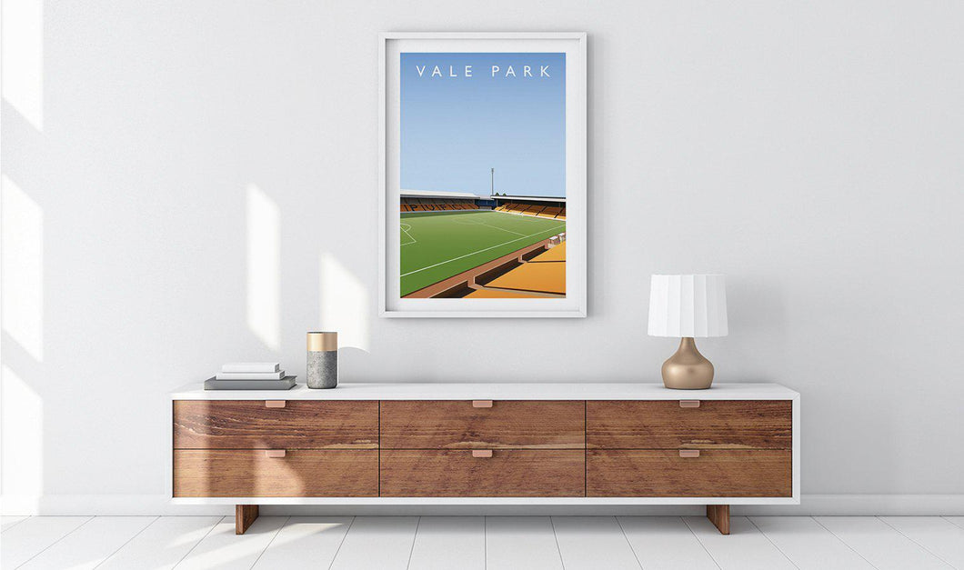 Vale Park Illustrated Poster-Posters-The Terrace Store