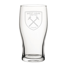 Load image into Gallery viewer, West Ham United Crest Engraved Pint Glass-Engraved-The Terrace Store