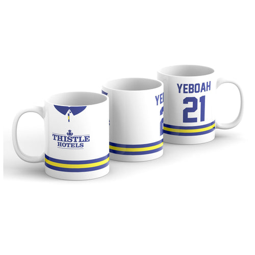 Yeboah 1993 Leeds United Home Kit Mug