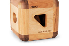 CUBOS with Walnut inserts