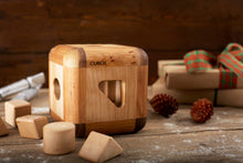 CUBOS with Walnut inserts (100% Natural,Shape Sorter,Heirloom Quality, Hardwood, Made in Canada)