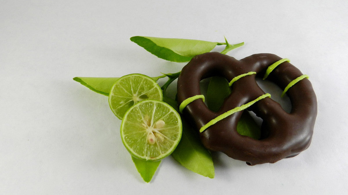 Key Lime Dark Chocolate covered Pretzels