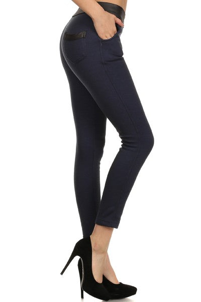 "Vera High Rise Petite Fleece Lined Jegging (Black) 24"" Inseam"
