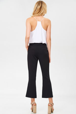 Elissa Petite Flare Pants in Black