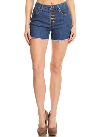 Petite High Waisted Denim Shorts