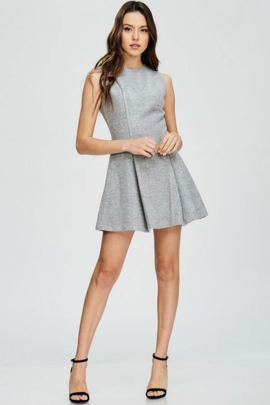 Genevieve Petite Wool Dress