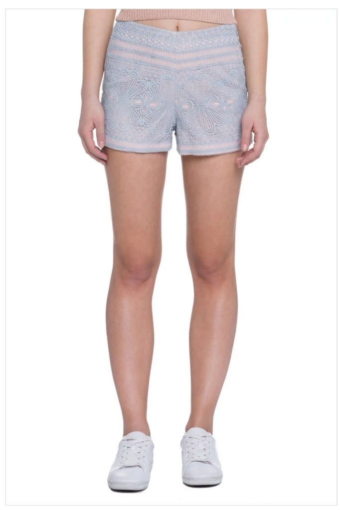 Daphne Petite High Waisted Lace Shorts
