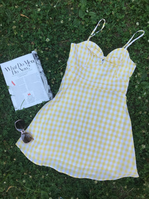 Clara Petite Gingham Dress