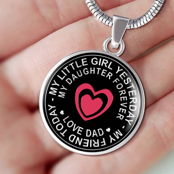 Special Novelty Birthday Gift to My Daughter Necklace Xmas. Awesome Gift for Girls On Birthday Father Daughter Pendant