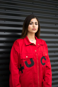 Red Canvas Jacket