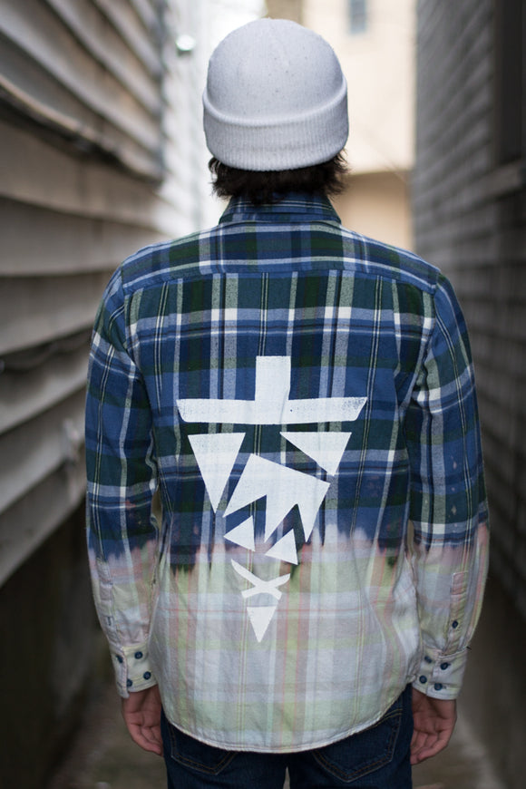 Blu Dipped Flannel