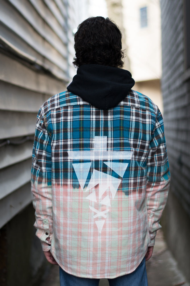 Turquoise Dipped Flannel