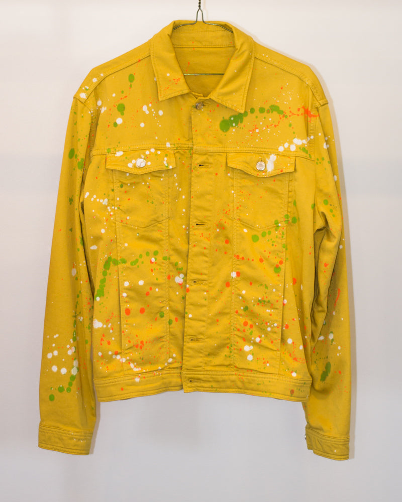 Yellow Dripped Denim