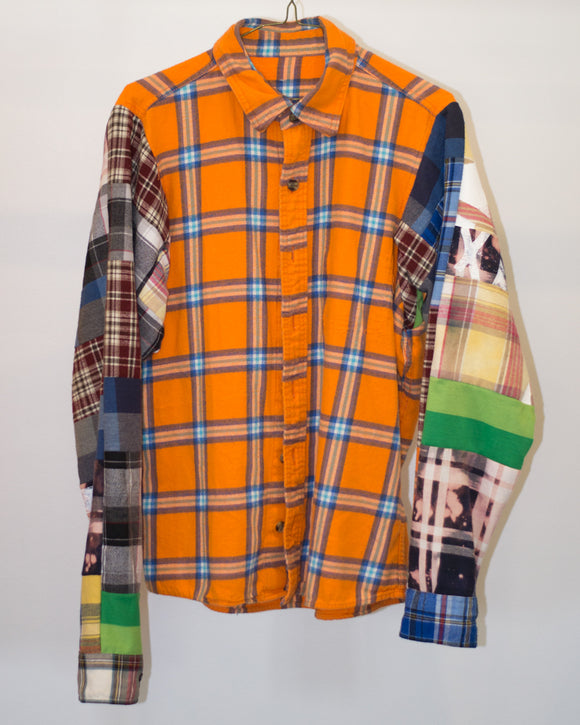 Orange Patchwork Flannel