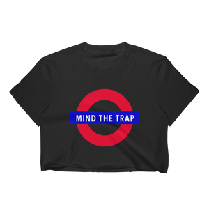 """mind the trap"" crop top"