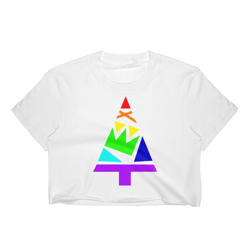 Women's Rainbow Crop Top