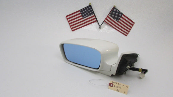 04 05 06 Acura TL Driver Side View Mirror Power Memory Left White OEM