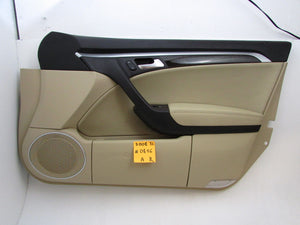 04 05 06 07 08 Acura TL Front Right Passenger Side Door Inner Trim Panel Tan OEM